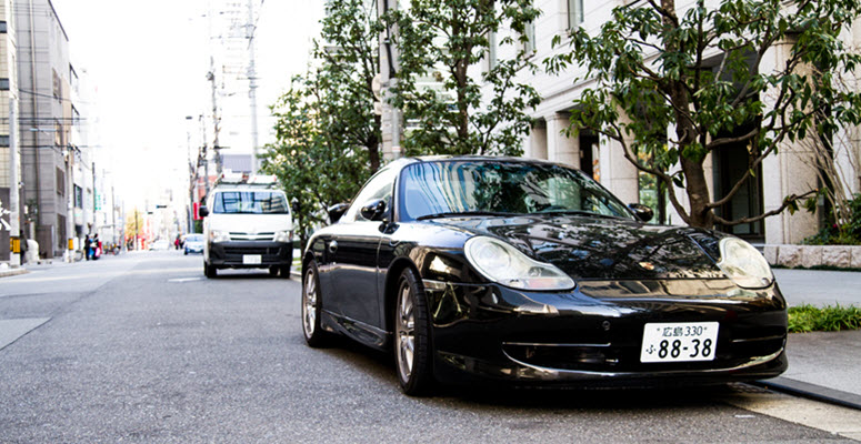 Porsche Car on Road