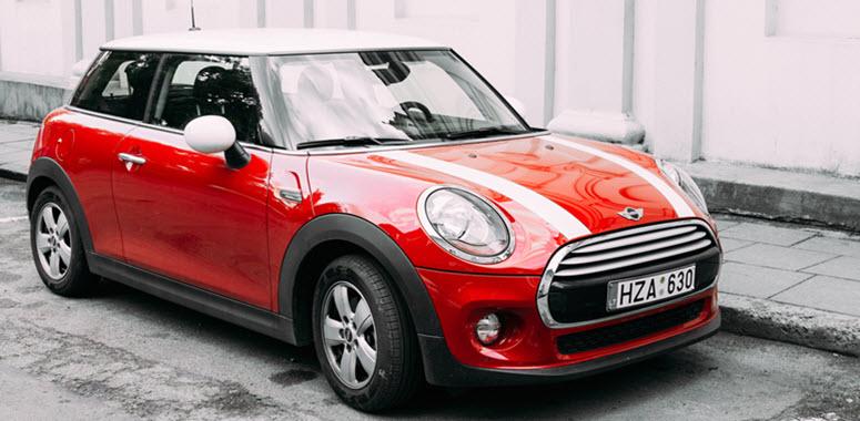 Mini Cooper Parked On Street
